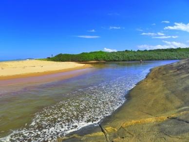 Lagoa de Carais encontro com o mar Parque Estadual Paulo César Vinha