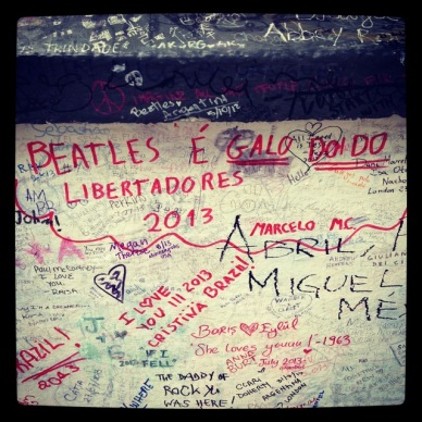 abbey road wall