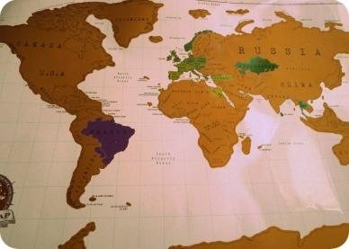 mapa mundi Parei de contar, comecei a viver