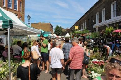 Mercado de flores Lotado- Londres